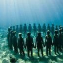 Kuriózní podmořské muzeum obývá stovky soch v životní velikosti - Cancun-Underwater-Museum