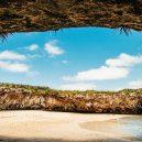 Playa del Amor – mexická pláž lásky, k níž se dostanete pouze za odlivu - marietas2