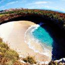 Playa del Amor – mexická pláž lásky, k níž se dostanete pouze za odlivu - playadelamormxico_1552765981