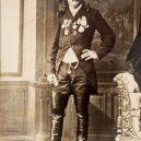 """Bizarní cirkusové představení """"diving horse"""" - William_Frank_Carver_in_1883"""