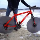 Projeli byste se na bicyklu s pilovými kotouči místo gum? - circular-saw-bicycle-tires-the-q-880-2
