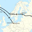 Němec Mathias Rust přistál roku 1987 před zraky šokovaných sovětů na moskevském Rudém náměstí - Mathias_Rust_flight_route