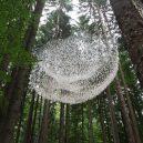 Uprostřed hustého lesa se vznáší úchvatná socha z dešťových kapek - John-Grade-image-1-768×1152@2x